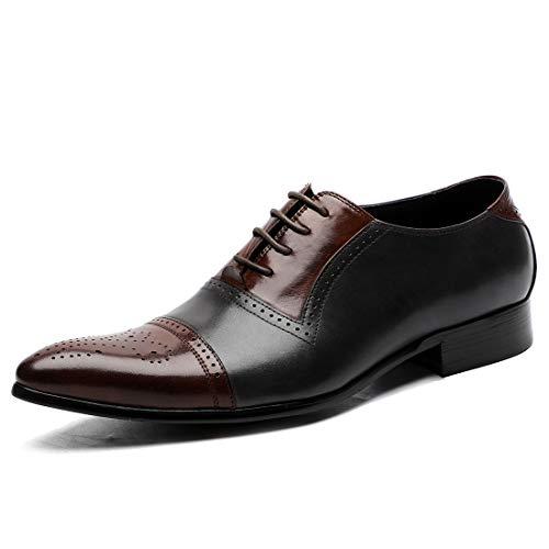 Story of life Herren Classic Oxford Echtleder Schuhe Brogues Casual Schnürschuhe Anzug Für Hochzeit Prom Office,C,44 -