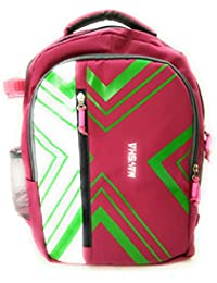Stylish Polyster Multipurpose Back Pack/Collage Bag/School Bag Pink And Green For Boy/Mens/Girls By VIBGYOR