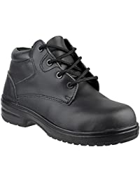 90a2dfb3e148 Womens Ladies Safety Boots / Black Composite Metal Free Laced Work Amblers