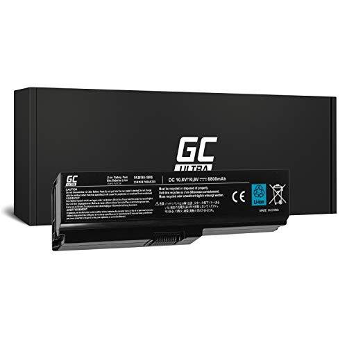 GC® Ultra Serie Laptop Akku für Toshiba Satellite P775-112 P775-11E P775-11P P775-11Q P775-11R (Original Panasonic Zellen 6800mAh 11.1V Schwarz) (Laptop P775 Toshiba Satellite)