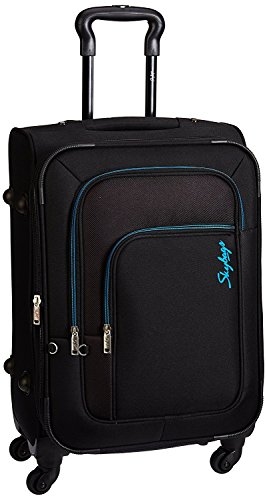 Skybags Footloose Levin Polyester 78 cms Black Softsided Suitcase (STFLW78EBLK)