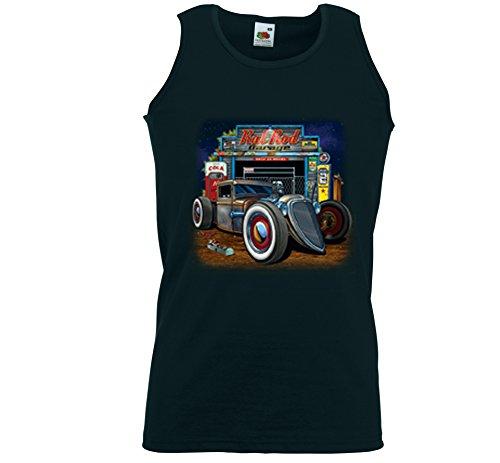 Hot Rod Tank Top Muskel Shirt Rat Rod Garage Rockabilly Vintage V8 Gr.XXL (Rat Rod Garage)
