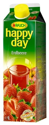 Rauch Happy Day Erdbeere, 6er Pack (6 x 1 l Packung)