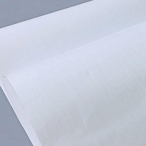 lovefaye massiv weiß Holz Getreide Kontakt Papier abnehmbarer Vinyl Regalen Tür Tisch Schrank Aufkleber 45cm von 9.8Füße (Kontakt-papier-holz)