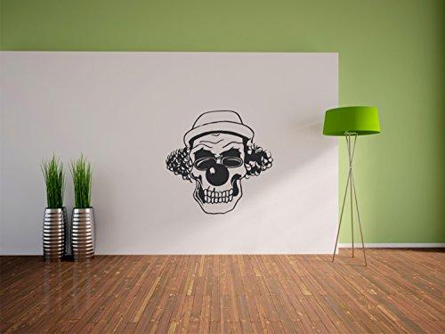 Pixxprint Hipster Clown Wandaufkleber Dekoration für Wohn/Schlaf -und Kinderzimmer, 600 x 580 mm (Böse Clown Dekoration)