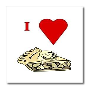 Florene Nourriture N–Pomme d'Amour de boisson à tarte–fer à repasser sur le transfert de la chaleur–10x 10fer à repasser sur le transfert de chaleur pour matériau Blanc