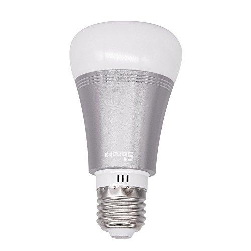 Sonoff B1 Wi-Fi Intelligente LED-Glühbirne E27 Dimmbare Magische Farbänderung, Kabellose Tages- und Nachtlicht- Fernbedienung von überall her auf Telefon, Kein Hub Erforderlich, Funktioniert mit Amazon Alexa und Google Home