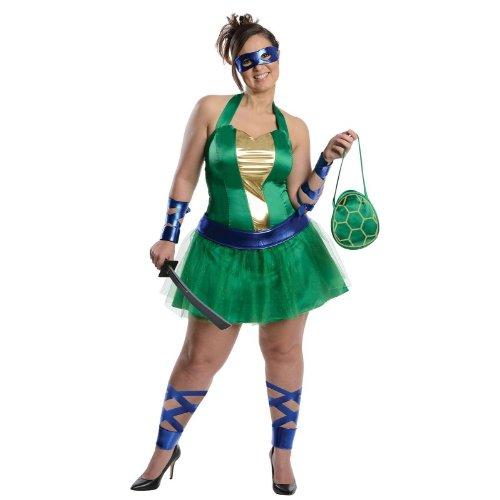 Teenage Mutant Ninja Turtles Leonardo Erwachsene Plus Kostüm (Ninja Mutant Adult Dress Turtles Leonardo Teenage)