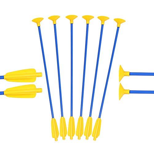 Toparchery Pfeil und Bogen Kinder Set: 12 Pfeile für Bogenschießen Ersatzpfeile Saugnapf (12)