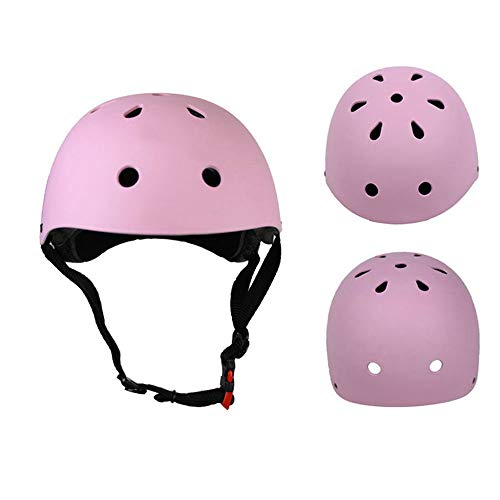 FGKING Kids Sport Protective Gear Set, Helm and Pads of Wrist, Elbow, Knee, for Skateboarding, Skating, Cycling and Other Extreme Sports Activities,Pink