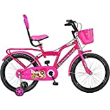 Global Barbie 20T (Pink) for Kids Age 7-12 Years Fully Adjustable with Back Seat Kids Bicycle for Boys and Girls