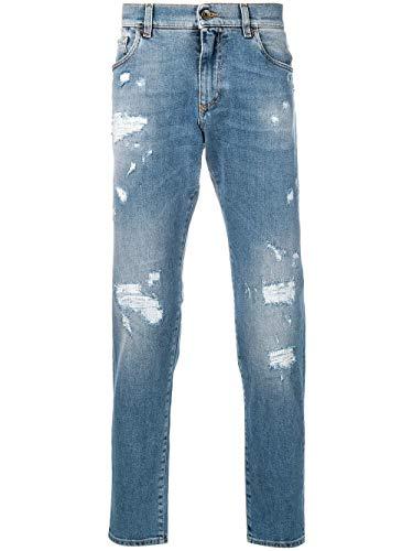 DOLCE E GABBANA Herren Gy07cdg8an0s9001 Hellblau Baumwolle Jeans