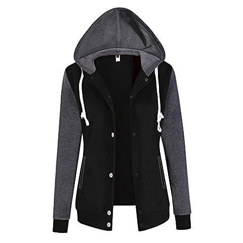 Ksweet Damen Übergangsjacke Kapuzenjacke Hoodie Sweatshirt