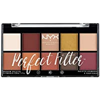 NYX Professional Makeup Palette Ombretti Perfect Filter, 10 Ombretti, Rustic Antique