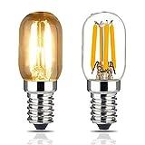 Bombilla para Campana de Cocina, E14 Regulable, Bombilla de Filamento LED T20 2 W, Equivalente a 20 W, Luz Blanca Cálida Suave 2700 K, Rosca Edison Pequeña, 2 pack