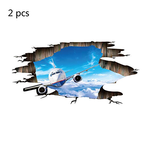 HGFJH 3D Sky Planer Deckenboden Wasserdicht Klebrige Kinderzimmer Wohnzimmer Bad Wc Sofa Hintergrund (2 Stücke)