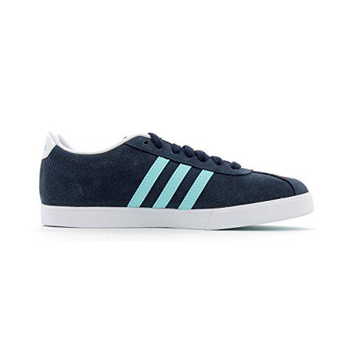 adidas Damen Courtset W Turnschuhe, Schwarz blau (Maruni / Aquene / Ftwbla)