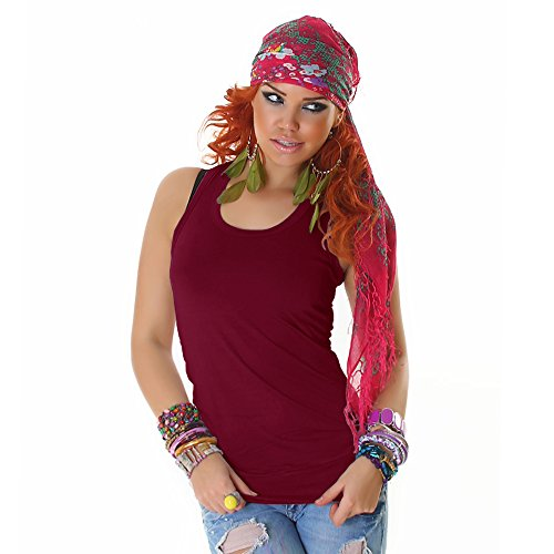 Jela London Damen Tanktop Top Shirt Einheitsgröße 32,34,36,38 verschiedene Farben Woodland