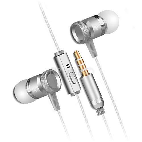 rhörer mit High Definition Sound schwere Tiefe Bässe + Metall Mikrofon - Kopfhörer - für iPhone iPod iPad Android Laptop PC Mac Smartphones Tablets Samsung HTC Sony LG & mehr ()