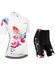 (Cojín 3D)(traje tamaño:XXL) ropa rendimiento Jerseys ciclismo mujer transpirable sudo corta rompevientos chaleco los maillot de para Moda manga