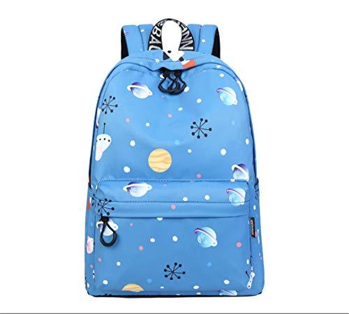 Art- Und Weisefrauen-Galaxie-Stern-Universum-Raum-MäDchen-Weiblicher Schulrucksack Sky Blue 14 Inches