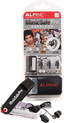 Alpine MusicSafe Pro Ohrstöpsel - Werte dein Musikerlebnis auf ohne Hörschäden zu riskieren - Drei austauschbare Filtersets - Bequemes hypoallergenes Material - Wiederverwendbare Ohrstöpsel - Schwarz -