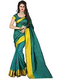 JEM FASHION Women's Saree With Blouse Piece
