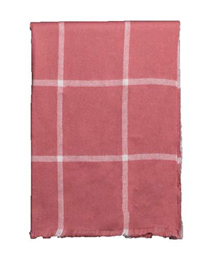 YQJDTD Schal Schal Lätzchen Erwachsenen Schal Schal Schal im Freien Schal, rosa Gitter