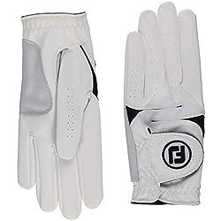 FootJoy WeatherSof - Guante para hombre, Diestro, se pone en la mano izquierda, color Blanco, talla ML
