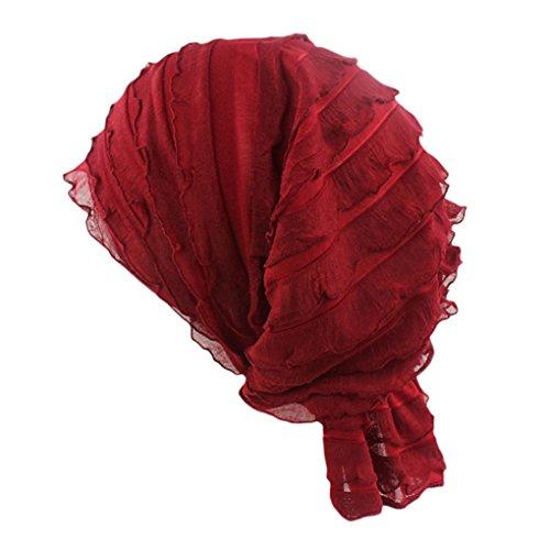 gemini-mallr-fashion-hat-beanie-cap-turban-headwrap-ideal-for-hair-loss-chemo-or-fashion-use-red