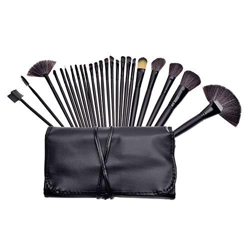 24 Stück Make Up Pinselset Kosmetik Pinsel Lidschattenpinsel Rougepinsel Set mit Tasche,Schwarz,24 Stück