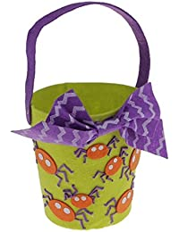 Tradico® Halloween Non-Woven Messenger Bag Handhold Bucket Treat Bag Candy Bag Green