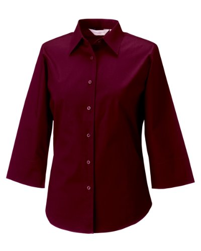 Russell Collection Lady 3/4Sleeve Shirt - Port