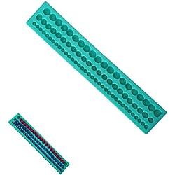 DreamFlying collar de perlas forma silicona Fondant Azúcar Molde Decoración de Pasteles molde–Collar de perlas