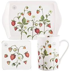 Royal Botanic Gardens, Kew Strawberry Fayre Zeit für Tee Geschenk-Set, weiß, 3-teilig