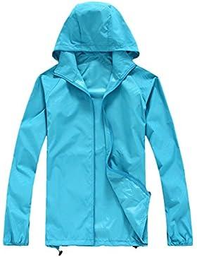 Zhhlinyuan Fashion High Quality Womens Waterproof Rainproof Lightweight Anti-UV Jacket