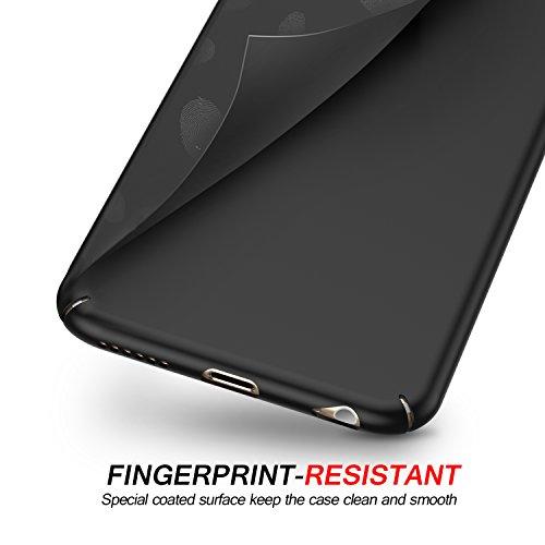 Funda iPhone 6/6s, HUMIXX Alta Calidad Ultra Slim Anti-Rasguño y Resistente Huellas Dactilares Totalmente Protectora Caso de Plástico Duro Cover Case (iPhone 6/6s,Negro)