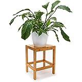 Relaxdays 10019036 - Taburete, bambú, 40 x 28 x 32 cm, 1.8 kg