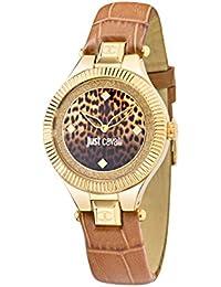 Just Cavalli Damen Uhrenbeweger Collection JUST INDIE Edelstahl braun R7251215502