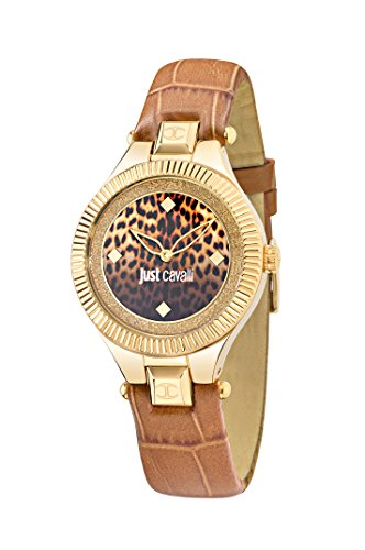 Just Cavalli Just Indie Women's Quartz Watch with Multicolour Dial Analogue Display and Brown Leather Strap R7251215502