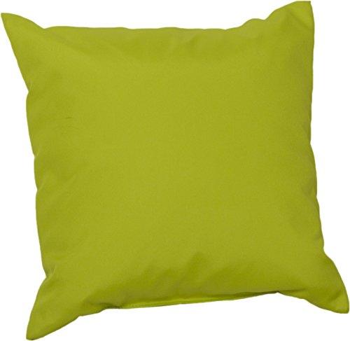 Gartenstuhl-Kissen Dekokissen Premium Lounge Palettenkissen in hellgrün ca. 45 x 45 cm ca. 8 cm dick aus 100% Polyester wasserabweisend