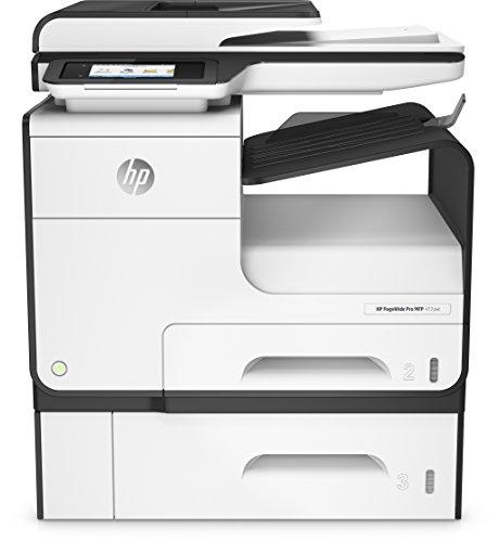 HP PageWide Pro 477dwt Multifunktionsdrucker (A4, Drucker, Scanner, Kopierer, Duplex, Fax, WLAN, LAN, 500 Blatt Papierfach, HP ePrint, Airprint, Cloud Print, USB, 2400 x 1200 dpi) weiß