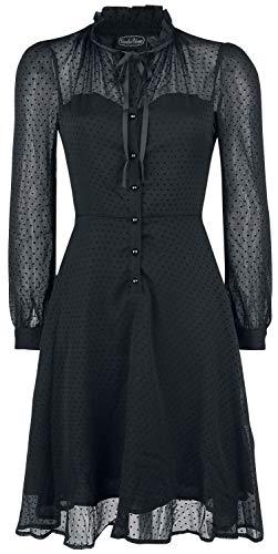 Voodoo Vixen Acid Doll Dark Marionette Dress Mittellanges Kleid schwarz M