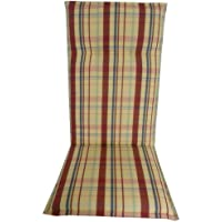 beo Bahrain HL M403 High-Backed Chair Cushion with Flange for Comfortable Seating Approx 48 x 119 cm Green 5 cm Thick