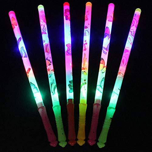 mAjglgE Multicolor Cartoon Muster Glow Stick Luminous Party Konzert Supply Kinder Geschenk - zufällige Farbe (Multicolor Party Supplies)
