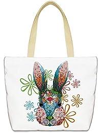 65bcb33276 WeoHau 3D Printed Canvas Scuola di Moda Portatili Libri di Viaggio Casuale  Shopping Tote Bag Borsetta Borsa Della…