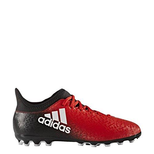 adidas X 16.3 Ag J, Chaussures de Football Entrainement garçon rouge/blanc/noir
