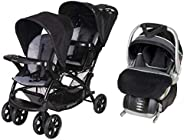 BabyTrend Sit N Stand Double Stroller + Infant Car Seat Onyx