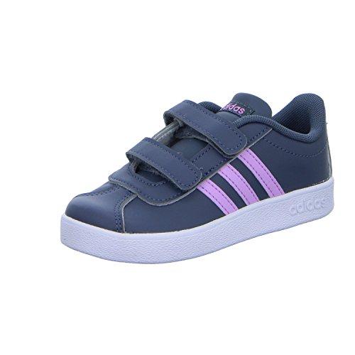adidas Unisex-Kinder VL Court 2.0 CMF Fitnessschuhe, Mehrfarbig (Onix/Lilcla/Ftwbla 000), 26 EU