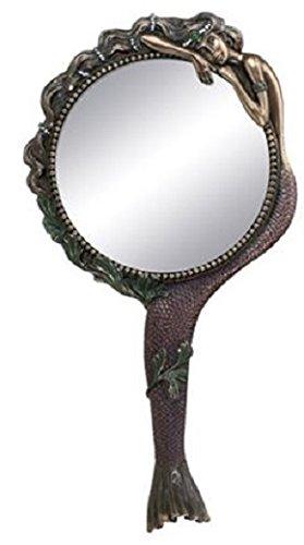 stealstreet Jugendstil Sammlerstück Meerjungfrau Hand Spiegel Nymphe Dekoration -